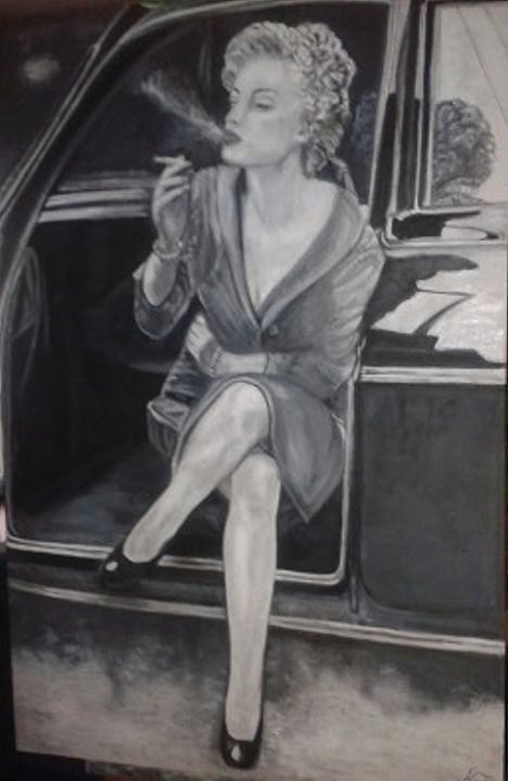I'm not Marilyn - Vintage paintings by Kaytee