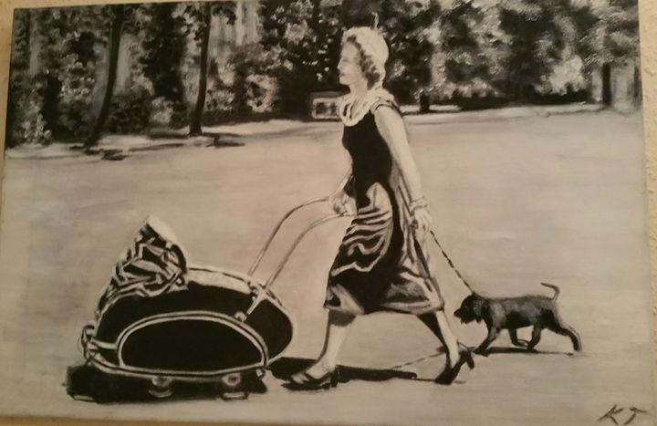 Sweet Fifties - Vintage paintings by Kaytee