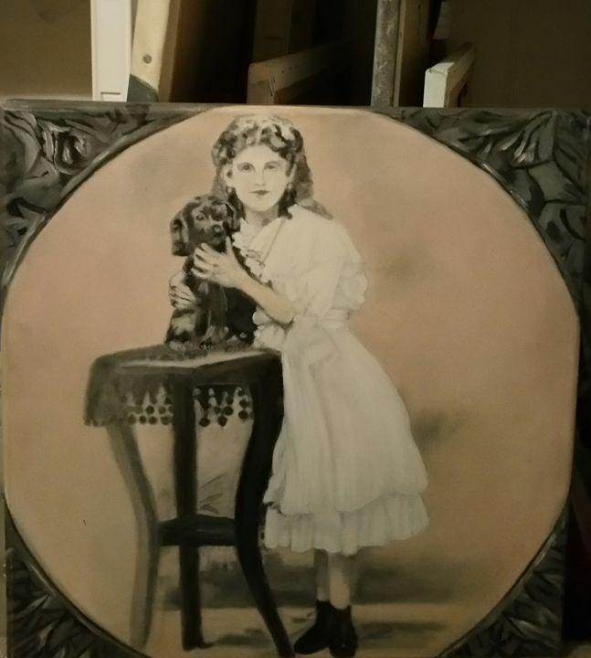Mon chou chou - Vintage paintings by Kaytee