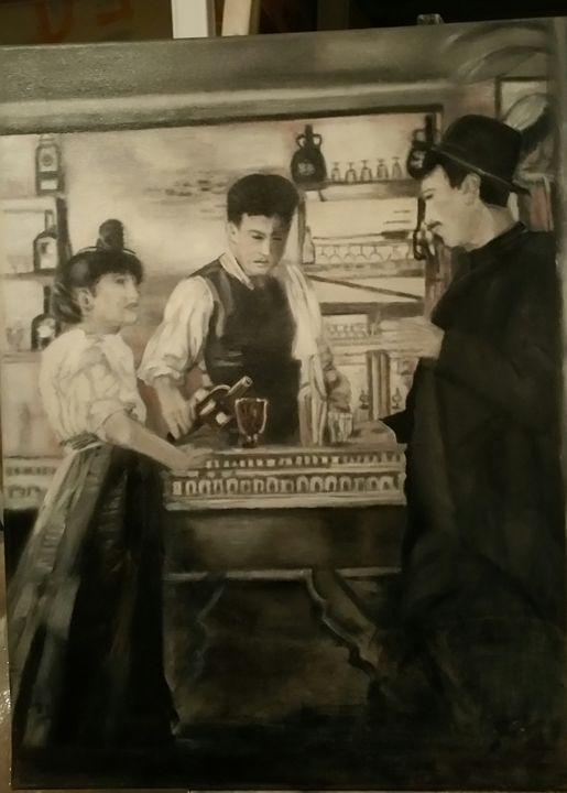 Au bar - Vintage paintings by Kaytee
