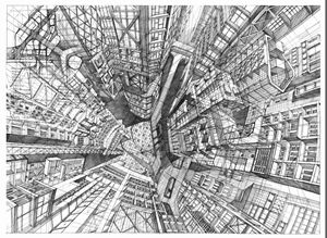 Flying over the city of the future