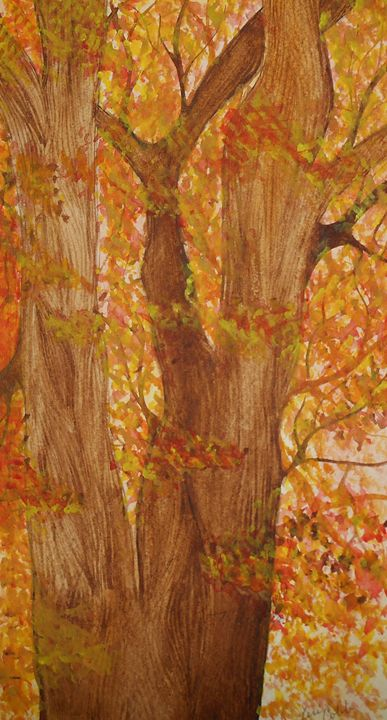 Deciduous Tree in Fall - Teri Wenger