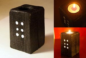 "Decorative candle holder – ""Domino"""