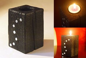 "Black candle holder – model ""S"""