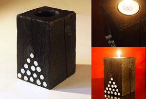 "Decorative candle holder – ""Pyramid"""