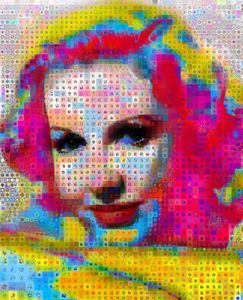 Jean Arthur abstract collage