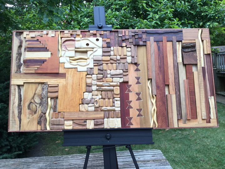 Muted Earth Tones - Wood assemblages