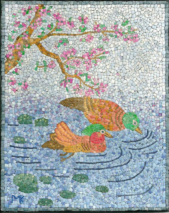 Two Ducks EggShell Mosaic - PassionMK