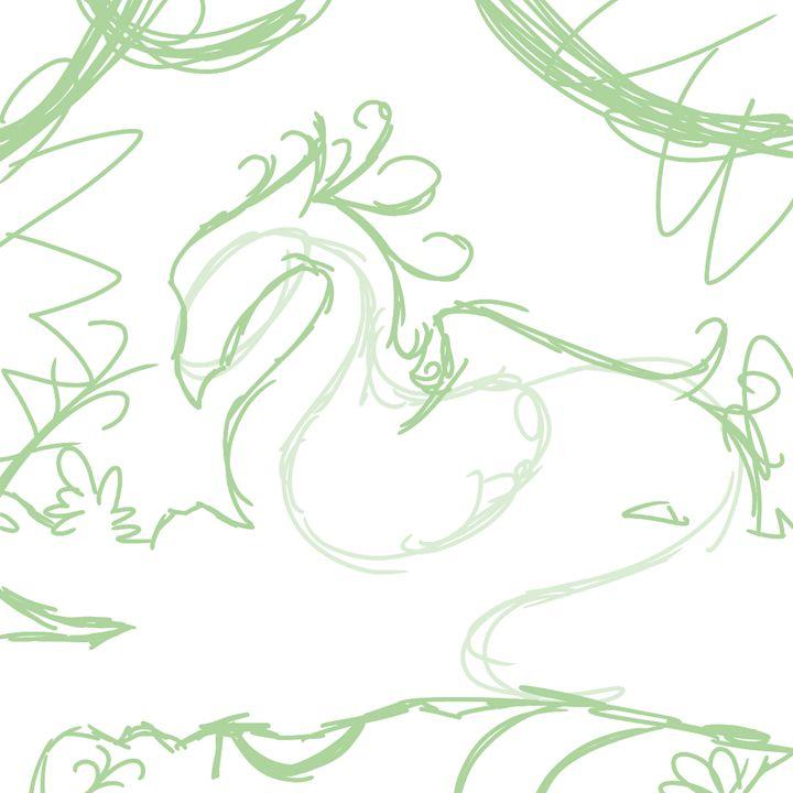 Dragon Silhouette (Sketch) - Farrayin