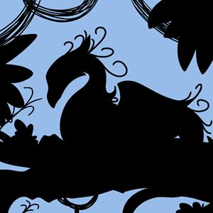 Dragon Silhouette (Blue)