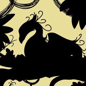 Dragon Silhouette (Yellow)