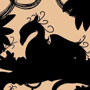 Dragon Silhouette (Orange)