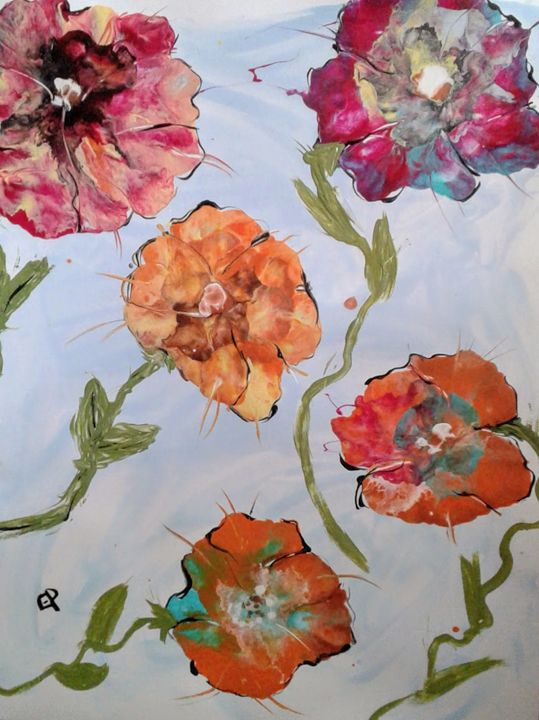 Dancing flowers - Elly's Paintings