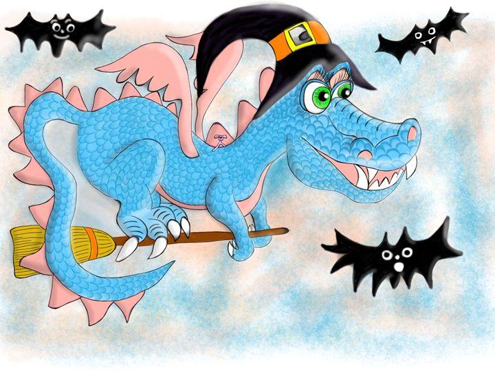 Creamsicle Dragon and Randy - Lynne Marie Studios, Inc.