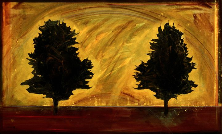 Two trees - Chad Maxwell-fine artist