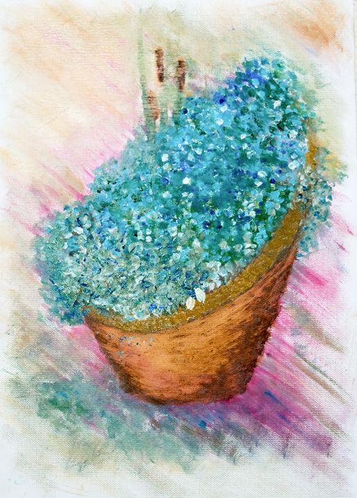 blue flowers - Nicolae Marius David