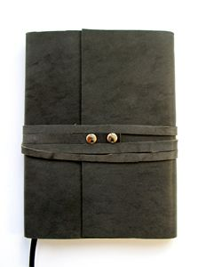 Leather Journal Gray Leather Wrap