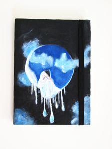 Acrylic over leather - Deborah Tveter
