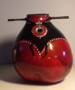 Whispers of Asia - SOLD - LaDeDa Gourds - Karen L Caldwell