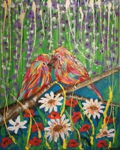 BIRDS - POWER MAGICAL PAINTING