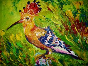 Motley Hoopoe - POWER MAGICAL PAINTING