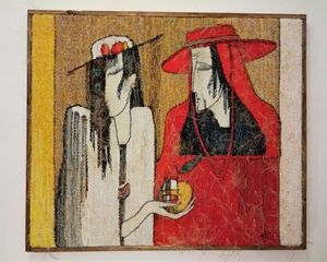 "Tapestry """" Duo'' 85x73 cm"