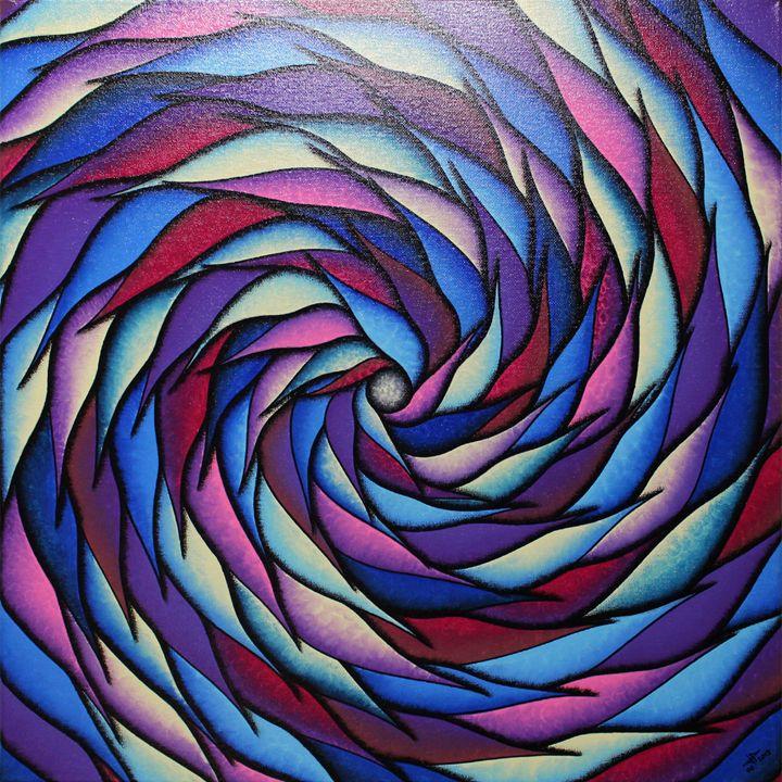 Blueish and purplish spiral - Jonathan Pradillon