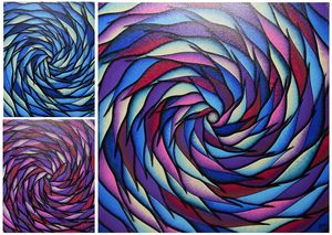 Colorful spirals serie 4