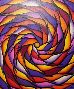 Reddish and purplish spiral