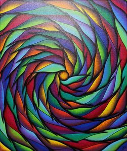 Multicolored spiral