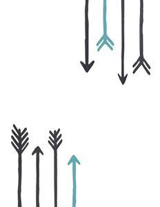 Minimalist Arrows with Blue