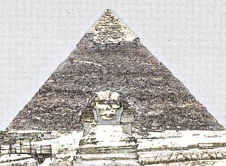 Pyramid of Egypt Digital Image - Digital Sketches