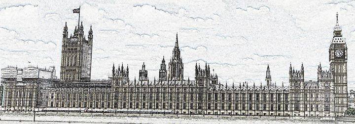 Big Ben Digital Image - Digital Sketches