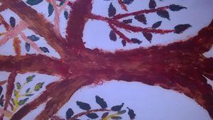 oil paint tree