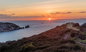 Alum Bay and The Needles sunset