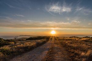 Island starburst Sunset