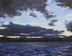 Sunset, Lake Webb