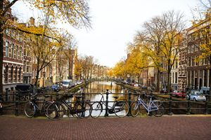 Amsterdam Canal with Bikes Color