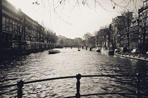 Dutch Canal Black & White