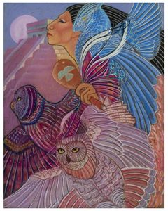 owl woman at Chichen Itza