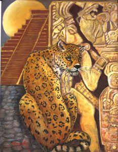 jaguar at palenque temple