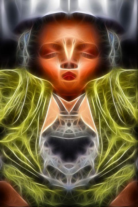 If Buddha Had A Wife - Abstract Digital Fine Art