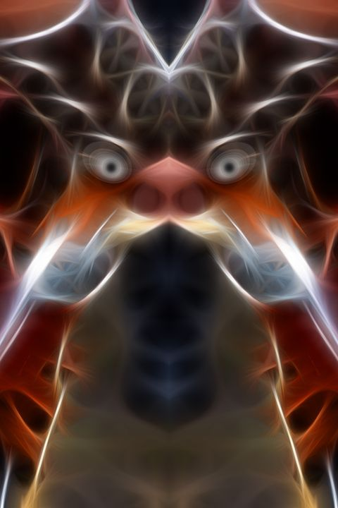 Thems Fighting Words - Abstract Digital Fine Art