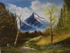 Sunlit Path 16x20