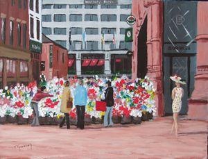 Flower Sellers, Grafton Street
