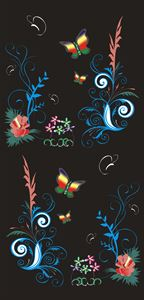 Modern Batik of Flower and Papilon