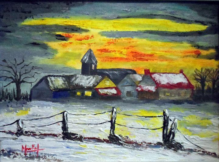 Village en hiver - Jacky Monka