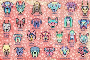 Types of Dogs Art