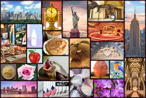 New York New York with Symbols