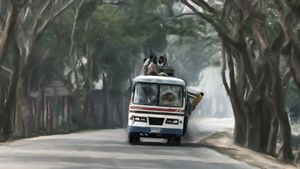 Loaded Bus to Sylhet